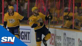 Predators' Mattias Ekholm springs Viktor Arvidsson for a breakaway goal