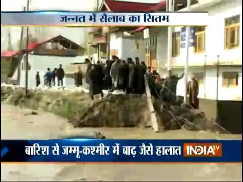 Flood in Kashmir: Over Flowing Jhelum River Destroys 200 Houses - India TV