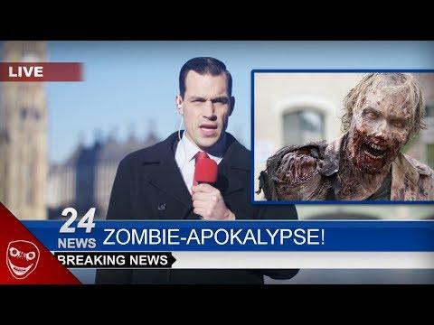 Gruselige TV Unterbrechung! Mann verkündet Zombie-Apokalypse!
