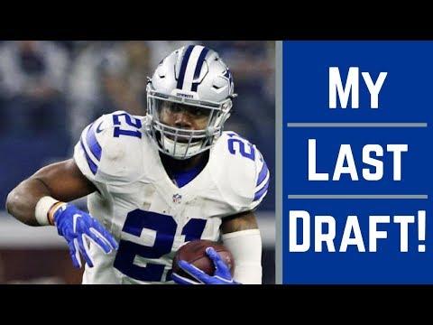 Live 2017 Fantasy Football Draft - My Last Draft