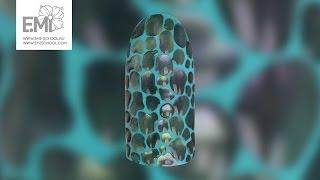 Мастер-класс рептилия и пигменты. Дизайн ногтей с гель-лаком.