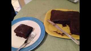 Fat Free Brownie Fudge Cake   Vegan