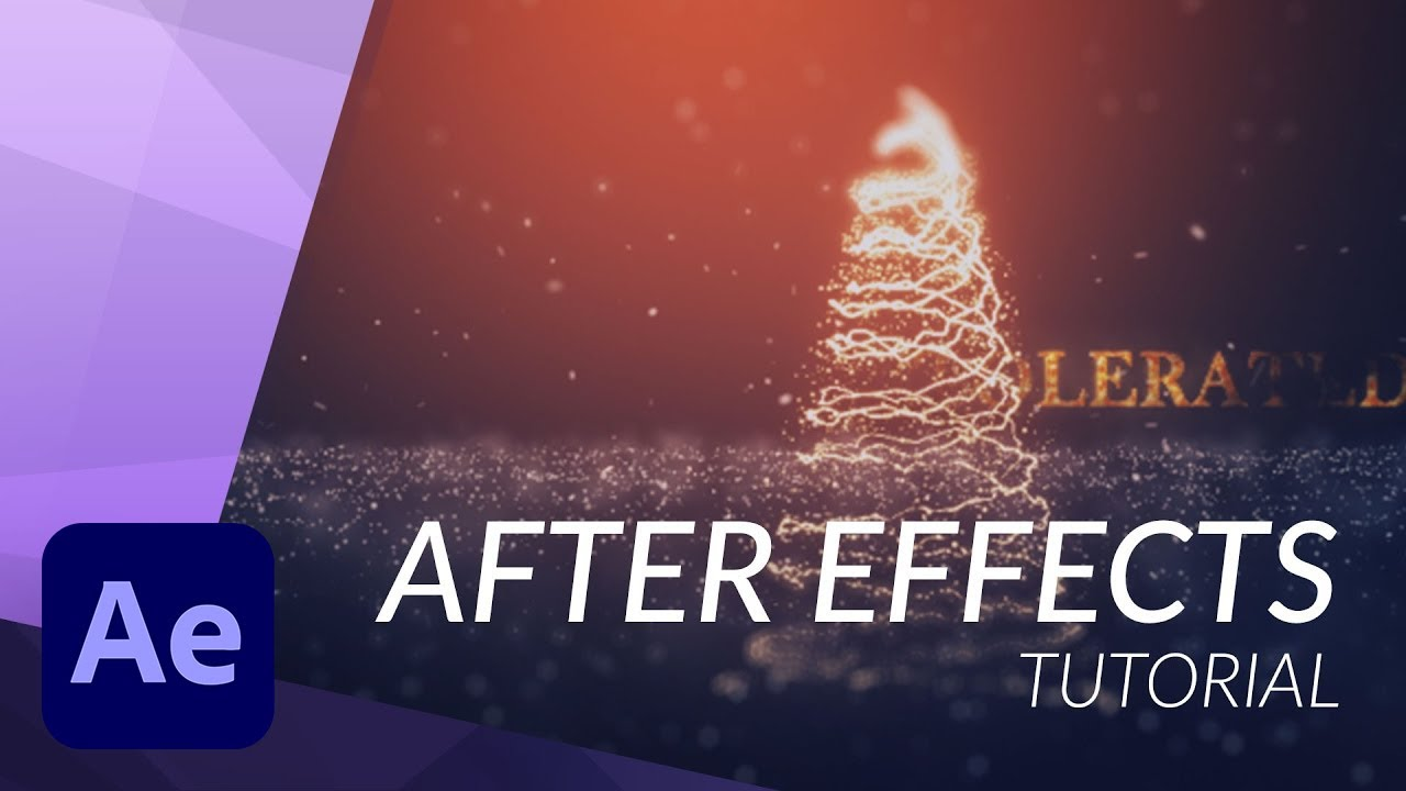 Create A Christmas Tree In After Effects With Particular Youtube After Effects Motion Graphics Tutorial After Effect Tutorial