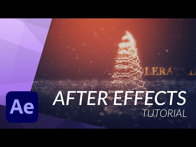Create a CHRISTMAS TREE in After Effects with Particular