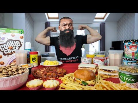 THE LARRY WHEELS STRONGMAN DAILY BULKING DIET CHALLENGE | BeardMeatsFood thumbnail