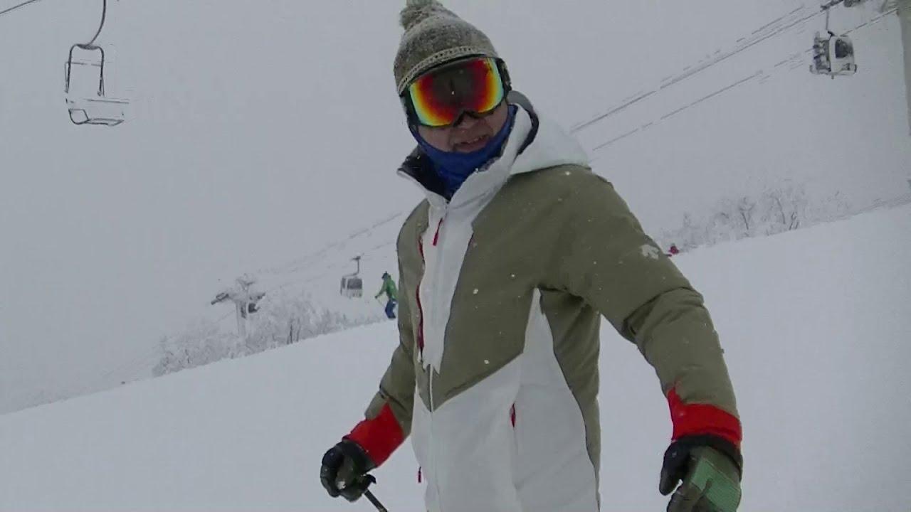 【八方尾根】パノラマ上部 ミドルターン研究【skiing】