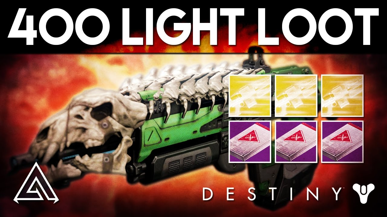 Destiny Rise of Iron | New Ornaments & 400 Light Level Loot Table
