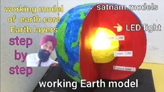 ✔Earth layers working model | 3d working model of science | earth core working project | globe model