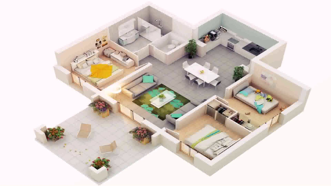 Low budget modern 3 bedroom house design in kerala youtube for Low budget modern 3 bedroom house design