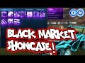 All BLACK MARKET DECALS! Rocket League Inventory Showcase!