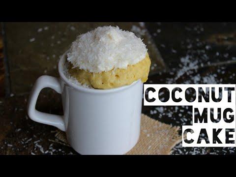 Healthy Mug Cake Recipe   How To Make A Healthy Coconut Macaroon Mug Cake