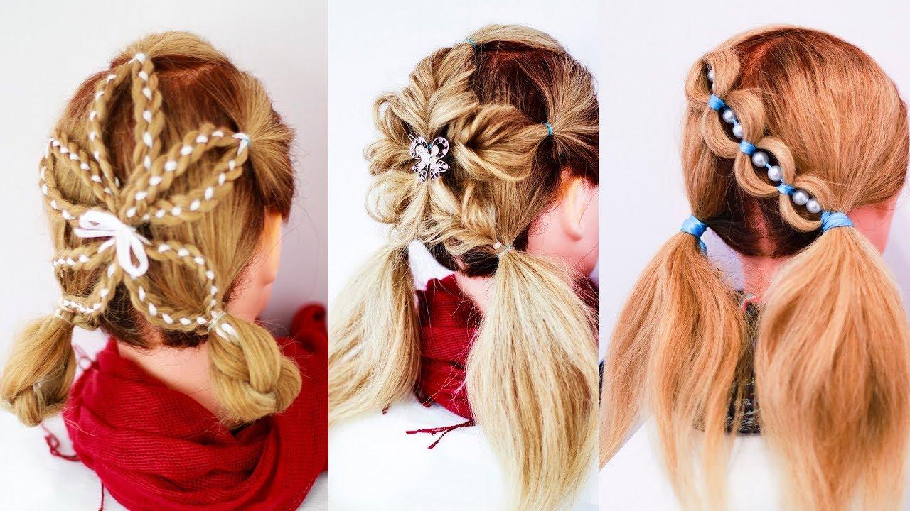 Детские причёски в школу и детсад, на каждый день и на праздник. Цветы из кос.