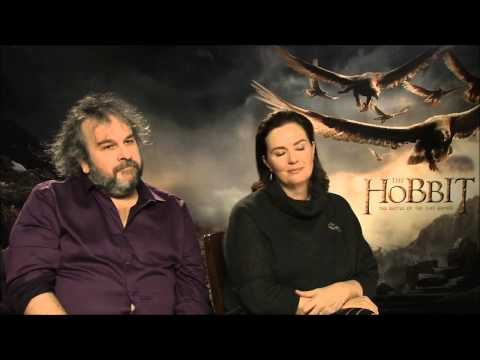 Peter Jackson, Philippa Boyens The Hobbit: The Battle of the Five Armies Press Junket