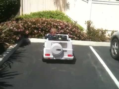 3 yr. old driving a mercedes - benz g55 amg kids car - youtube