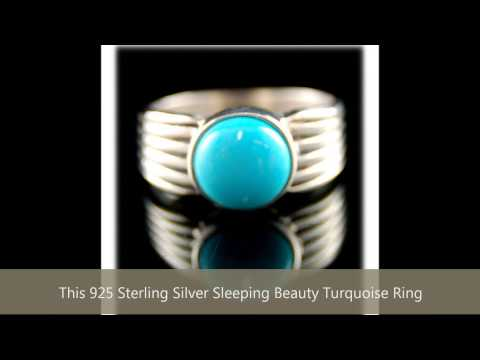 American Handmade 925 Sterling Silver Sleeping Beauty Turquoise Ring Different Sizes Available