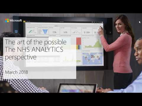 The art of the possible   The NHS ANALYTICS perspective