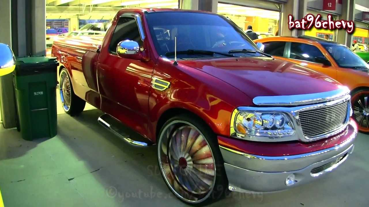 Candy Red Ford F 150 On 28 Quot Dub Flashes Floaters 1080p