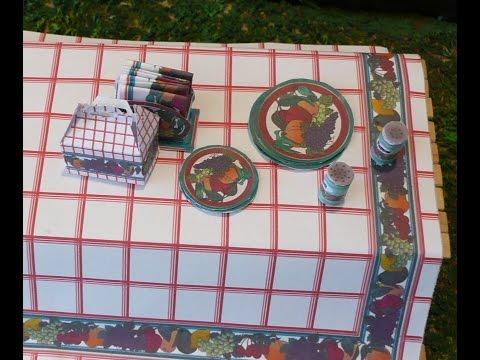 Dollhouse Miniature Picnic Accessories
