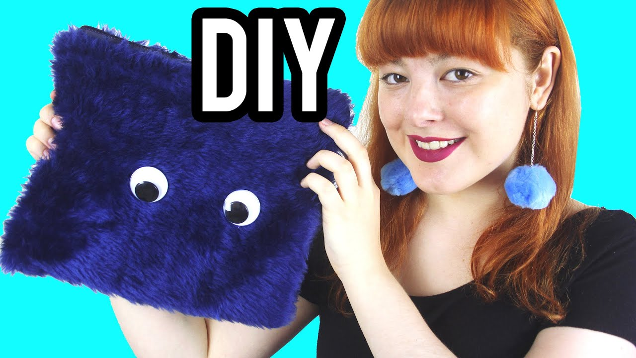 DIY Furry Clutch with Eyes Make Thrift Buy #32YouTube