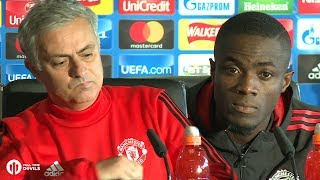 Jose Mourinho & Eric Bailly PRESS CONFERENCE Manchester United vs Benfica