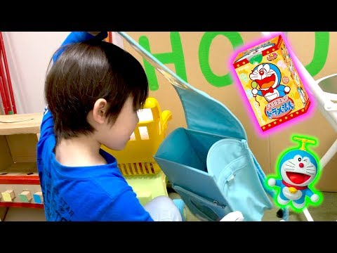 ママにおもちゃとお菓子を隠された!お兄ちゃんのためにがんばるたけるちゃん チョコエッグ ドラえもん ごっこ遊び ロボットチャンネル