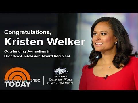 Kristen Welker Wins Outstanding Broadcast Journalist Award | TODAY