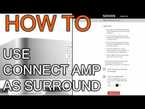 How To Use Sonos Connect Amp As Surround (OS 9.3 And Prior)