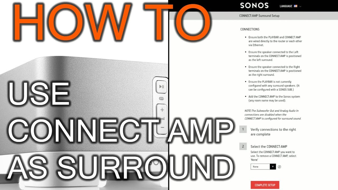 How to Use Connect Amp As Surround - YouTube