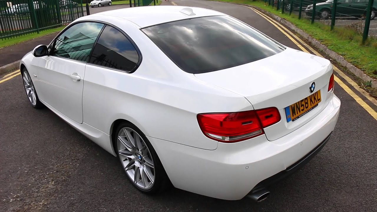 2008 58 bmw 320d m sport coupe auto youtube. Black Bedroom Furniture Sets. Home Design Ideas