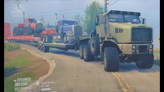Spintires MudRunner american wilds - Crazy Truck Trailer Loader Transport