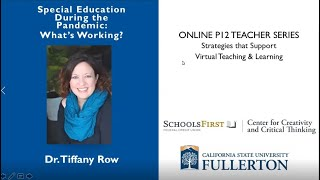 K12 Online Teaching Webinars: Special Education During the Pandemic, Whats Working?