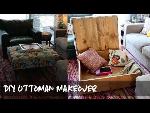 DIY Ottoman Makeover - Adding Storage! | Samantha Ebreo