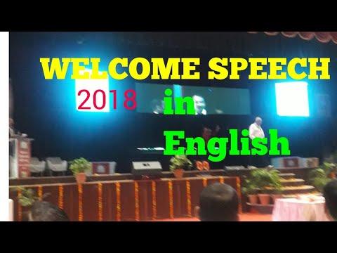 Welcome Speech English