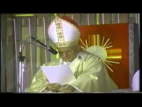 Pope John Paul II during his first visit to Mexico, 1979