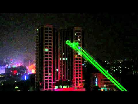 sky laser advertising / laser outdoor advertising / 3D advertising laser porjector