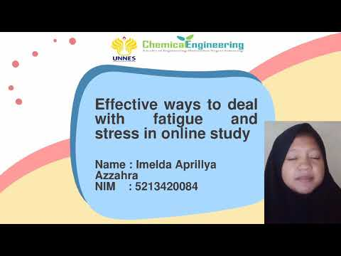 Effective ways to deal with fatigue and stress in online study