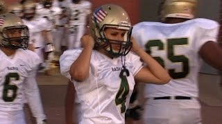 Female kicker makes college football history