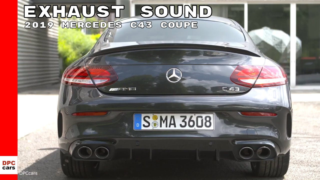 2019 mercedes c43 coupe exhaust sound youtube. Black Bedroom Furniture Sets. Home Design Ideas