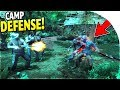 DEFENDING our BASE CAMP against Zombies and MY ZOMBIE SISTER in DEAD AGE
