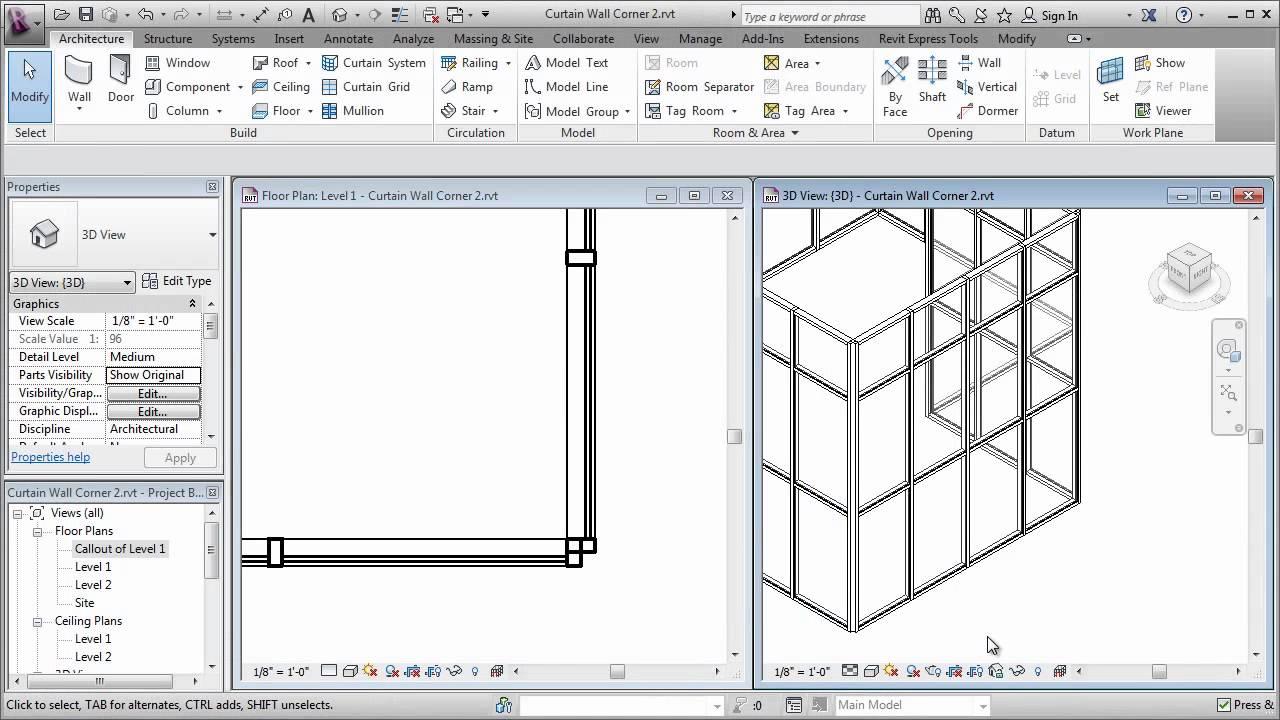Interior curtain wall revit for Curtain creator software