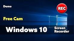 Windows 10 Screen Recorder Free Cam