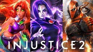 INJUSTICE 2 - All Original Teen Titans Tv Show Characters Ending!
