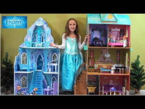 Princess Story: Frozen Princess Anna and Queen Elsa Sleepover: Frozen Elsa Castle, Arendale Palace