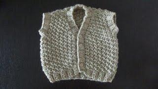 Детская безрукавка для ребенка 3-6 месяцев. Часть 1 (спинка)