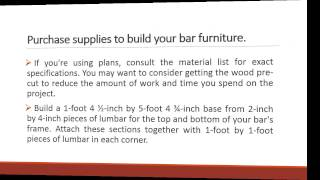How To Make Outdoor Patio Bar Furniture