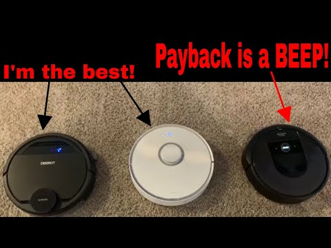 3 Way Robot Vacuum Race Home - Deebot Ozmo 930 VS iRobot Roomba i7 VS Roborock S5 - INTENSE FINISH