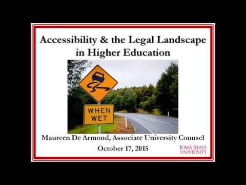 Accessibility and the Legal Landscape in Higher Education