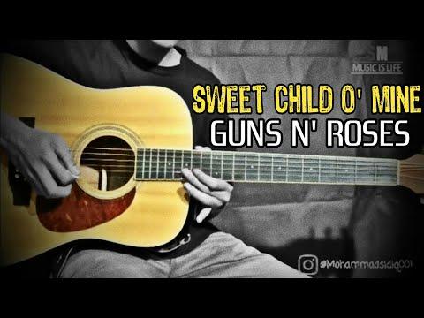 Tutorial Gitar Melodi Sweet Child O' Mine Solo - Guns N' Roses - Mohammad Sidiq