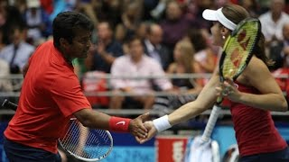 Leander Paes & Martina Hingis 7/9/14 & 7/11/14 Mixed Doubles Highlights