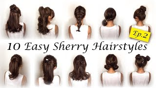10種簡易快速運動風編髮綁髮造型髮型教學10 Simple Quick and Easy for Hairstyles of sport☆ Sherry Hairstyle